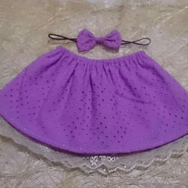 Repriced! Laced Purple Eyelet Tube/Skirt