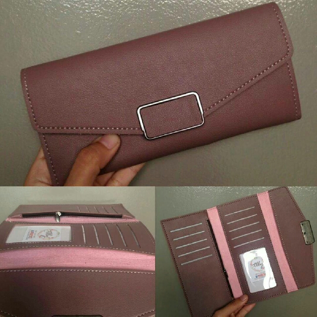 Purple Long Wallet Free Shipping For Metro Manila