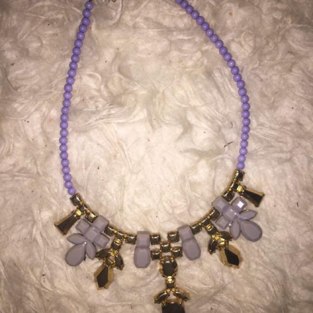 Purple Necklace H&M