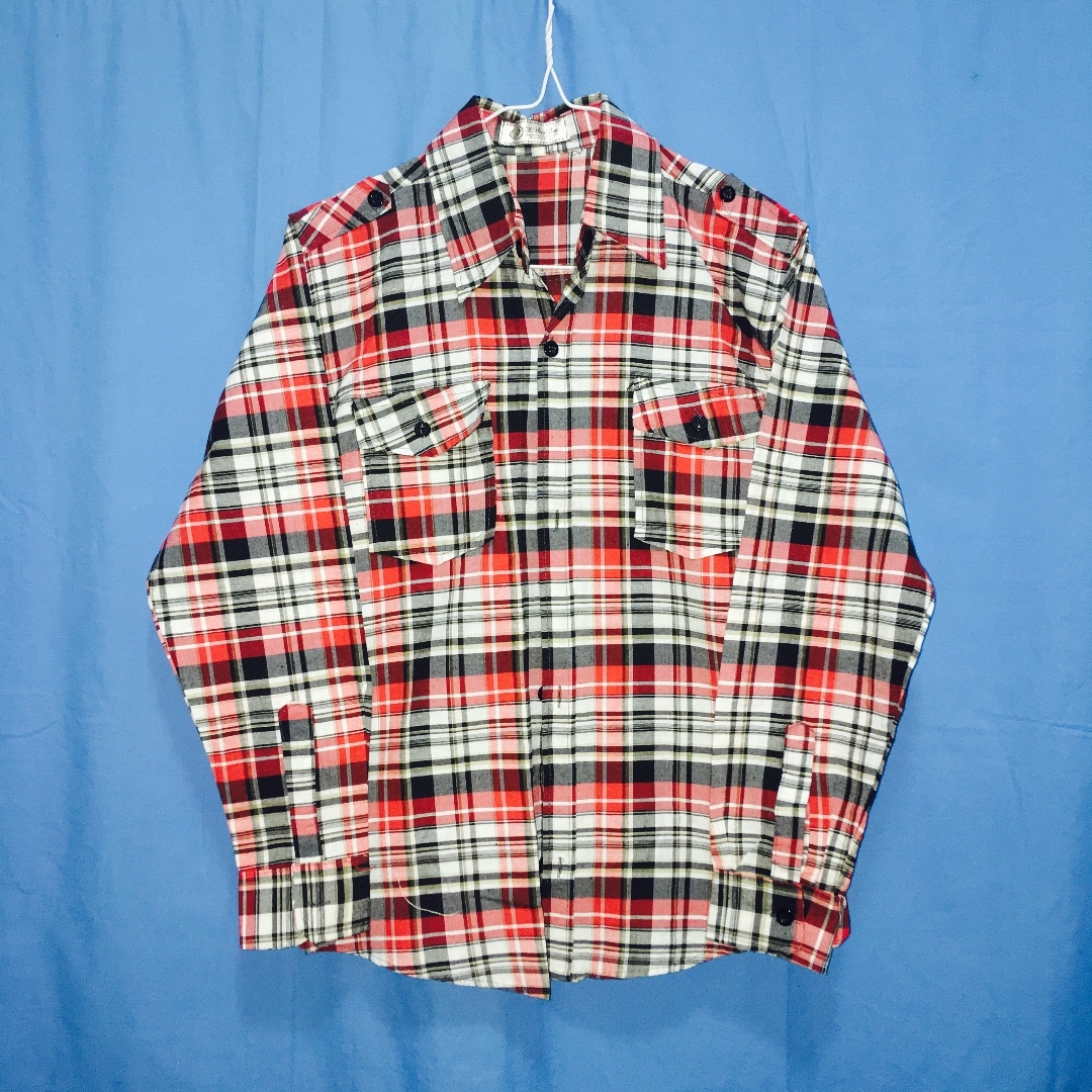 Red Plaids/ Striped-polo Long Sleeves
