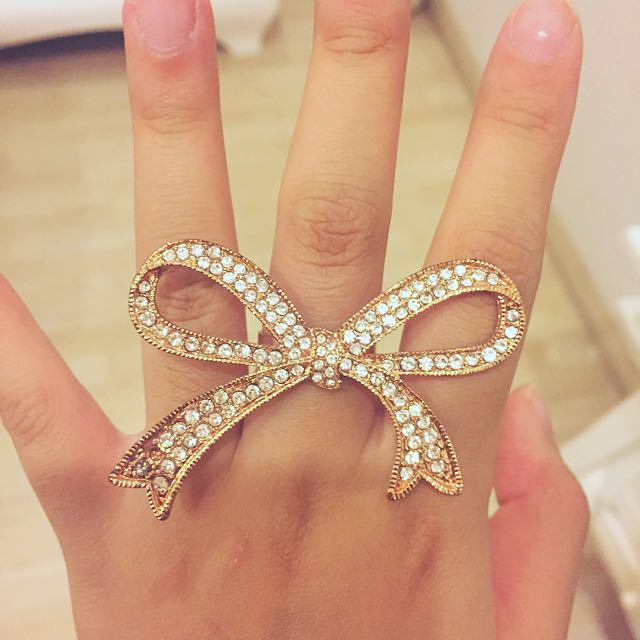 ROSE GOLD BOW RING💕