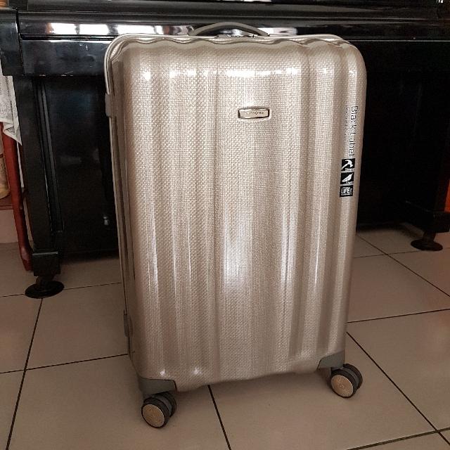 Samsonite黑標第一代非量產cubelite香檳金29吋行李箱專利curv材質