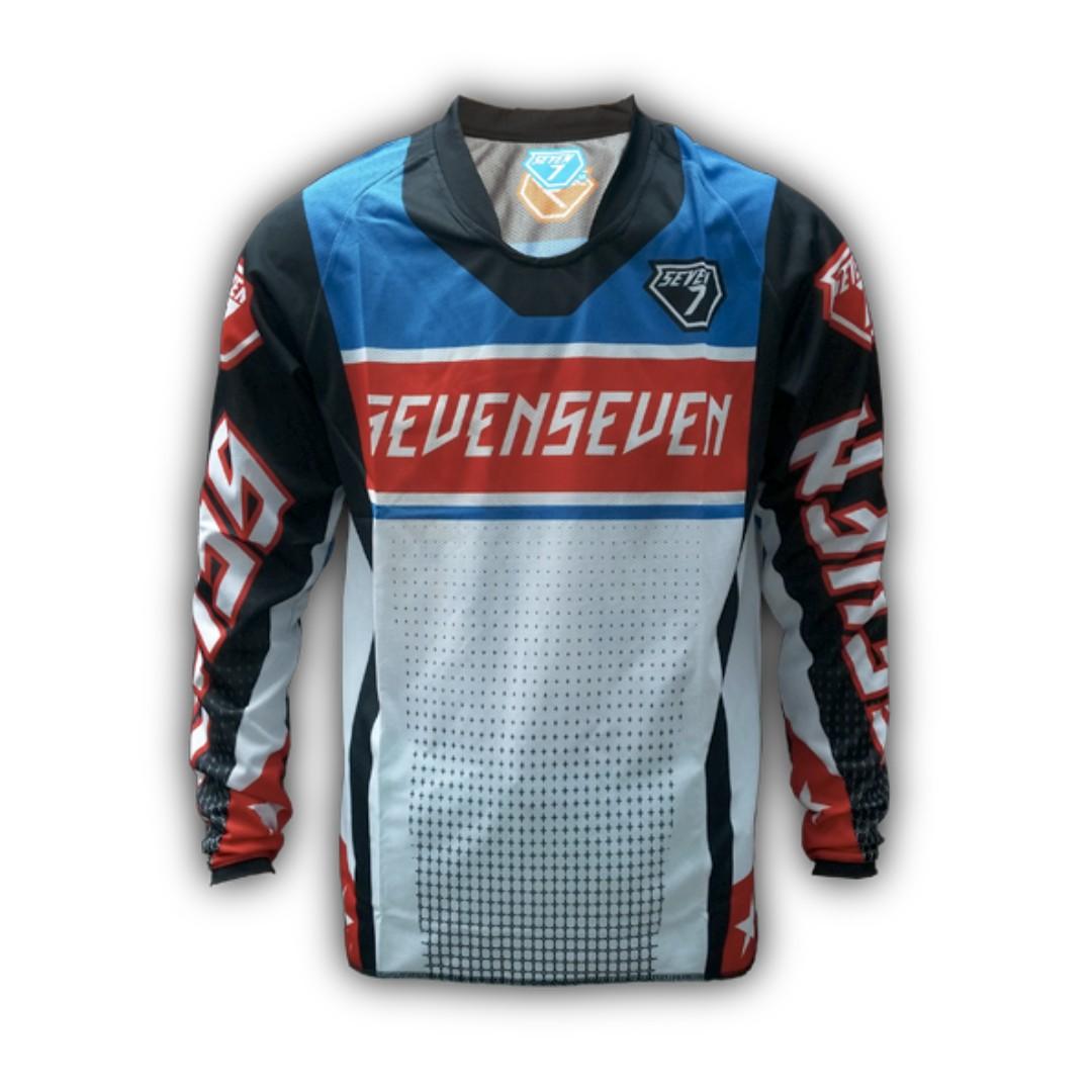 Seven7 Design Futuretro Red Blue MTB Jersey 18a27a702