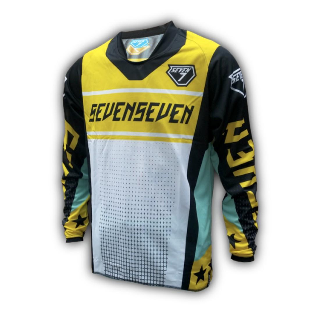 Seven7 Design Futuretro Yellow MTB Jersey 6575cb0a5
