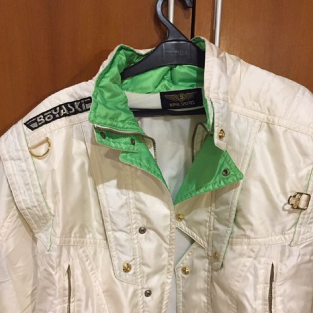 THRIFTED, VINTAGE BOMBER/COACH JACKET