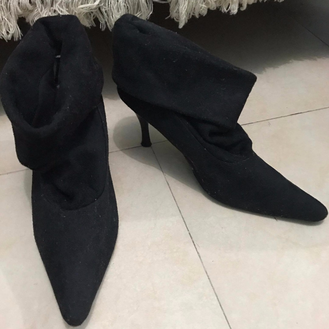 Unbranded - Black Stiletto-Heeled Booties
