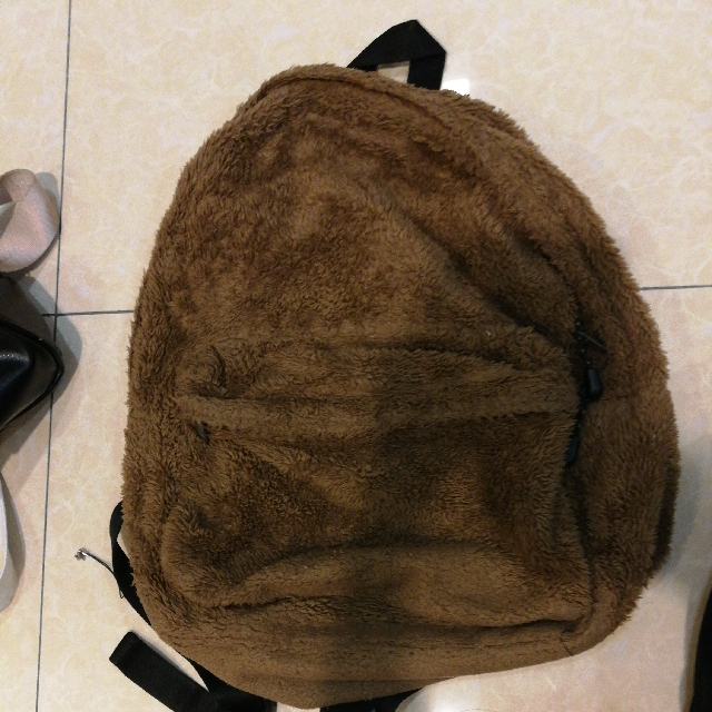 Uniqlo Furry Backpack Brown