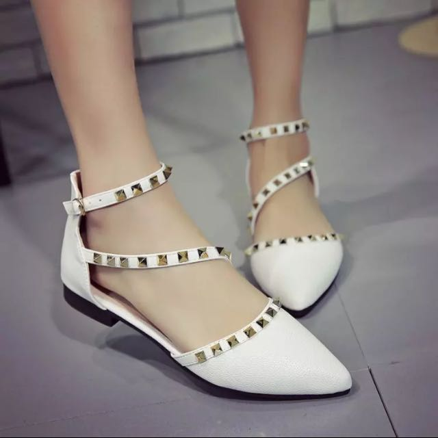 83bfa271a Valentino style studded flats (strappy sandals)
