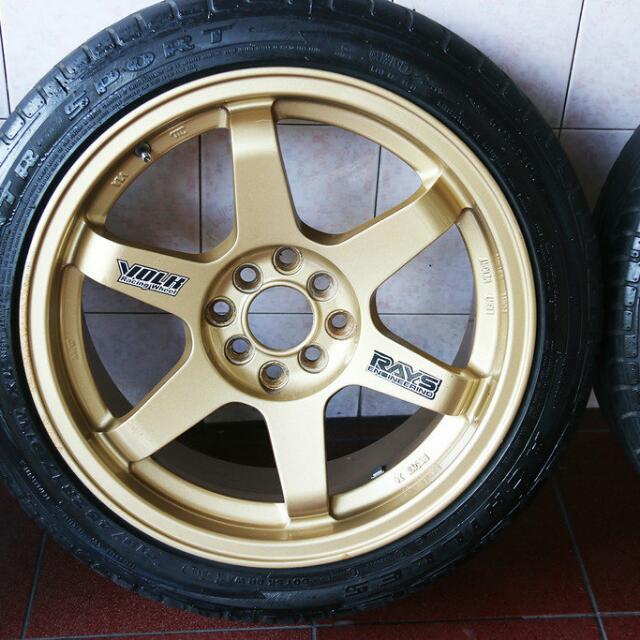Velg Volk Rays Te37 Gold Dan Ban Achilles Atr Sport Auto
