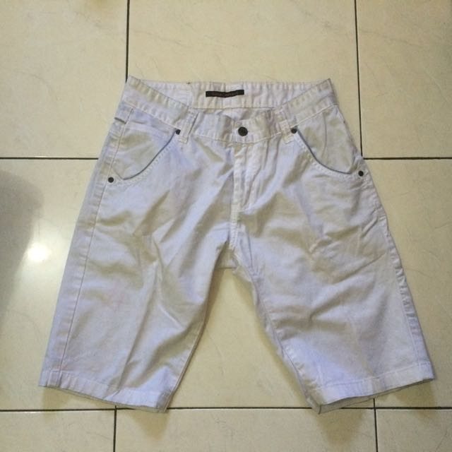 "WHITE SHORT PANTS ""Nudie Jeans"" for MAN 