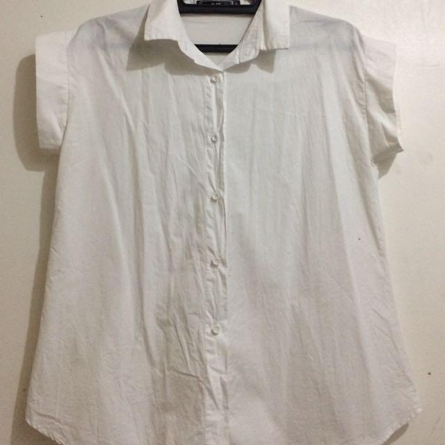 White Short Sleeves Blouse