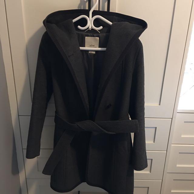 Wilfred Wool Coat Dark Grey