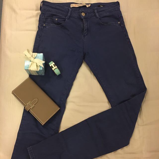 ZARA premium wash 水藍色牛仔褲#丹寧褲