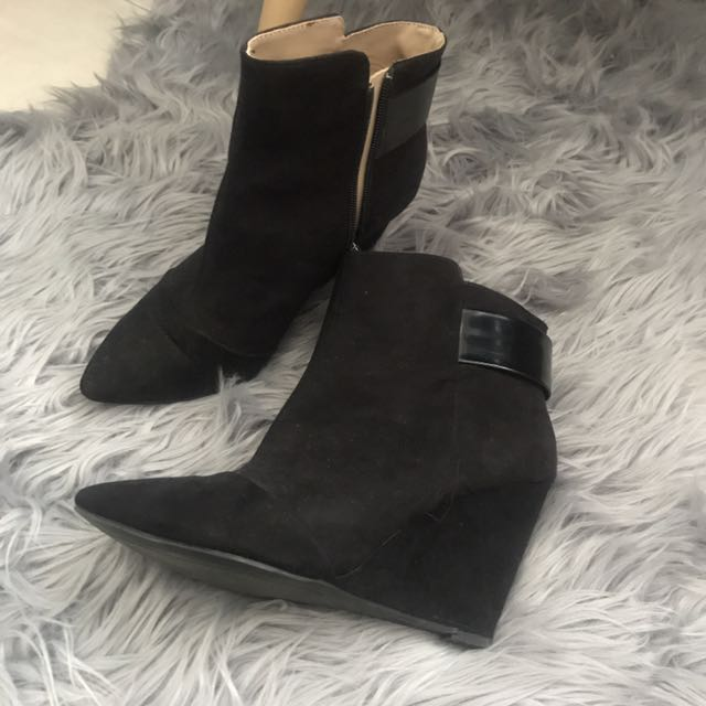 Zara Wedge Ankle Boots