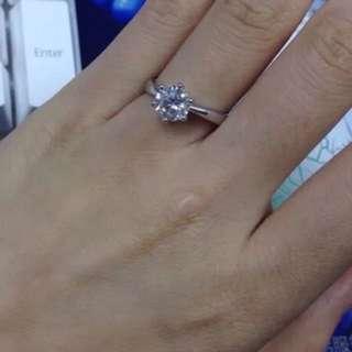 "1 Carat ESCVD diamond ring"""