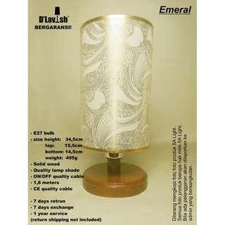 Emeral, Lampu Meja, Table Lamp, Lampu Hias