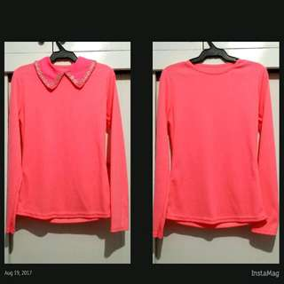 Stretchable Long Sleeves with Removable Collar