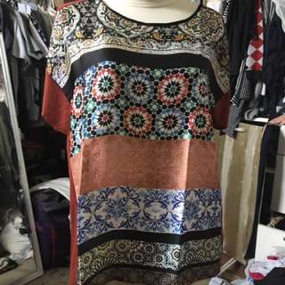 ZARA silk and jersey top