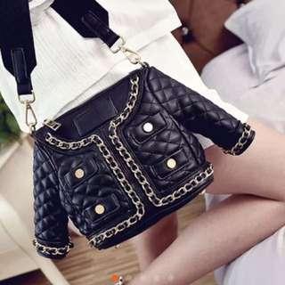 新款創意個性時尚淑女衣服斜掛小包