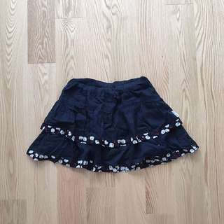 Hollister Floral-Trimmed Skirt