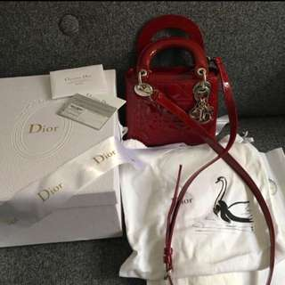 Dior Lady Bag Mini Size (brought From Paris) Full Set!