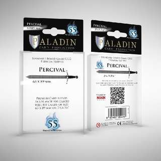 Paladin Card Protection - Premium Card Sleeves - Percival (63x89mm)