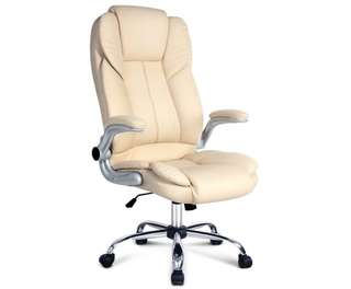 PU Leather Executive Office Chair Beige
