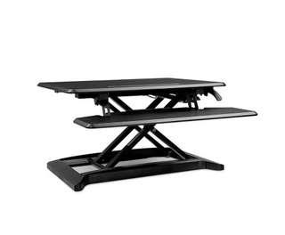 Adjustable Sit Stand Desk Riser Black 90CM