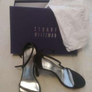 "Stuart Weitzman (NEW) ""Black Nudistsone"""