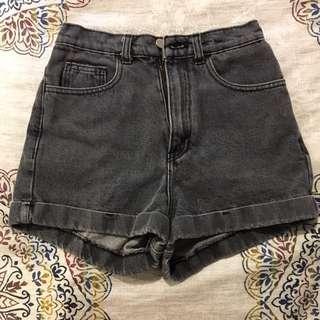 High-waisted Black American Apparel Jean Shorts