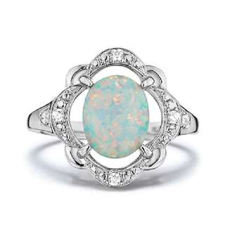 BNIB sterling silver simulated Opal ring