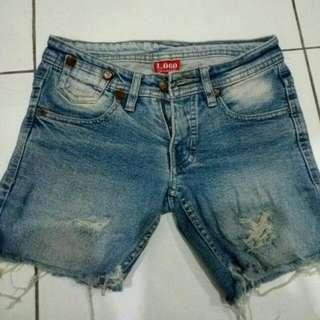 Hotpants Jeans Merek Logo Original