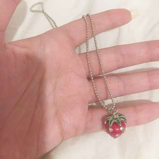 Cute Strawberry Necklace 🍓