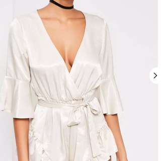 Missguided White Silky Romper