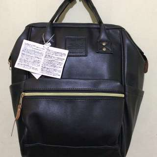 Black Anello Leather Handbag/Backpack