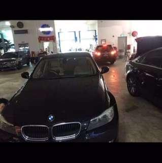 STK car rental, BWM 318i, black, 90% new, long term rental, only $1700 per mth