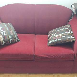 RED SOFA'S FOR 50 DOLLARS !!