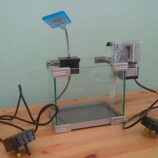 魚缸連氣泵射燈