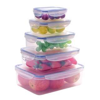 10-Pc Airtight Food Storage Container Box Set with Leakproof Lid