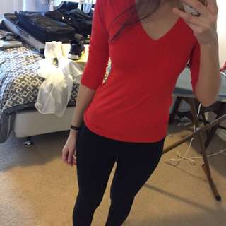 Red Cue Sweater Size Small