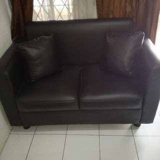 Sofa Kulit 2 Seater Dan Meja Tv Coffee Table