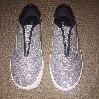 Michael Antonio Platform Silver Sparkly Sneakers