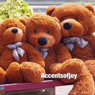 1m 1.2m 1.6m Giant Brown Teddy Bear