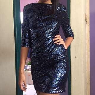 Sequin Blue Party Dress