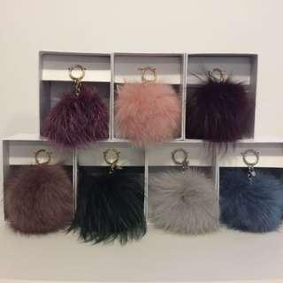 Brand New Michael Kors Large Fur Pom Pom Keychain