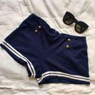 Nautical Inspired Navy Blue Shorts