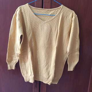 Mustard 7/8 Sweater