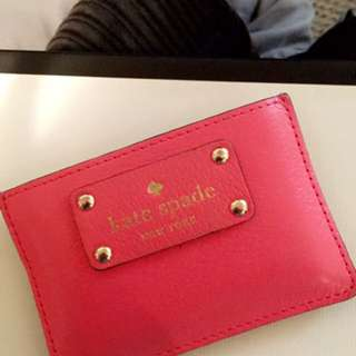 Pink Kate Spade Card Holder