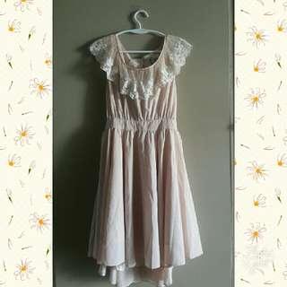 Peach Vintage Lace Dress