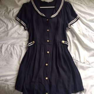 NAVY ROBBIE BEE SAILOR DRESS